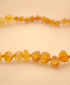Honey raw amber teething necklace