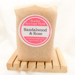 Sandalwood and Rose soap