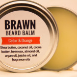 cedar and orange beard balm