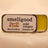 Solid cologne – Gun Oil and Cedar