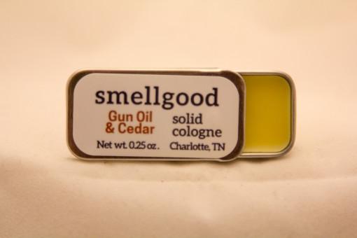Solid cologne - Gun Oil and Cedar