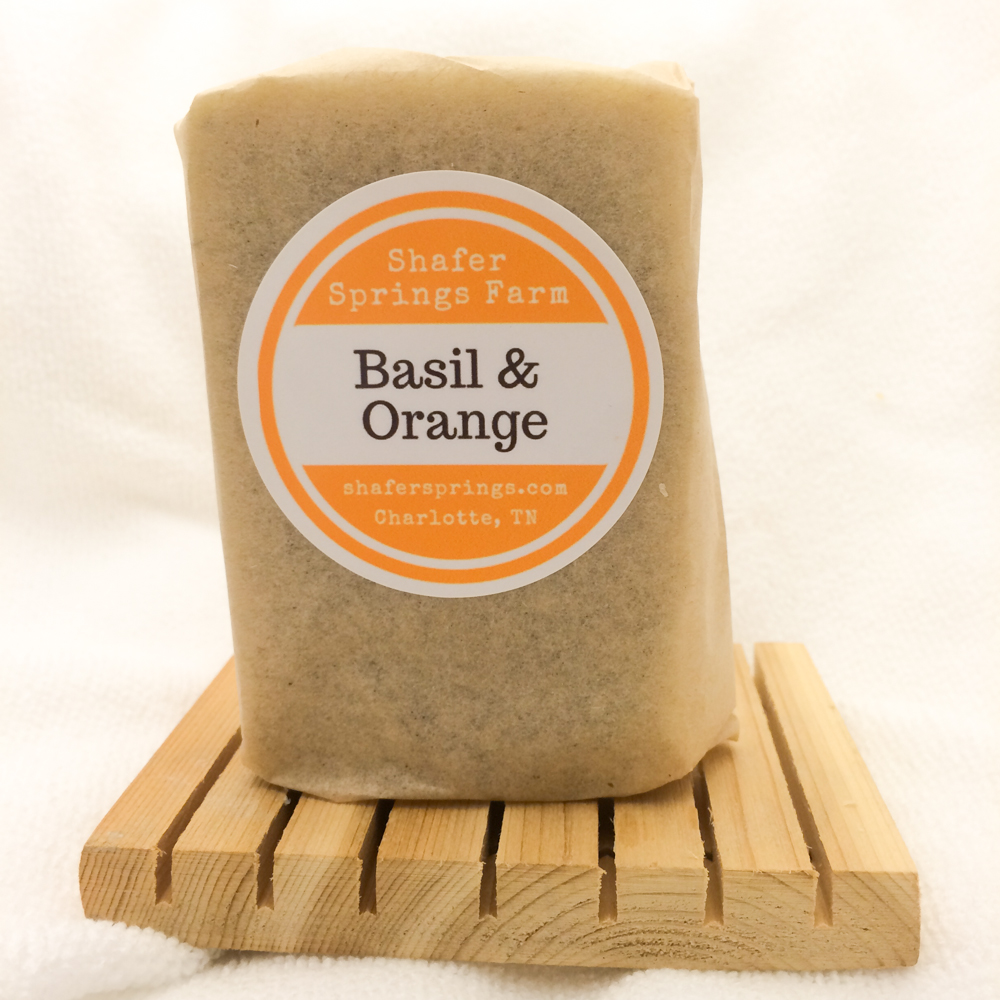 basil and orange soap