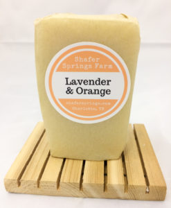 lavender and orange soap