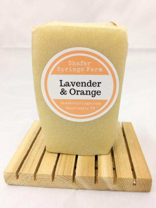 lavender and orange soap
