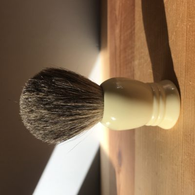 Grey pure badger hair shaving brush